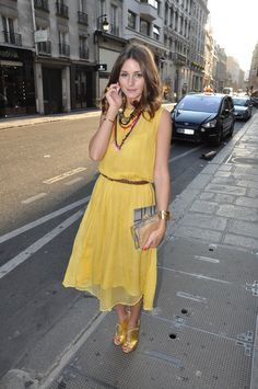 trendsetter olivia palermo looking gorgeous in yellow!#fashion#celebrity
