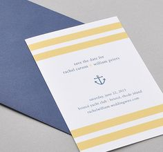 I can't turn down anything nautical.. Etsy Nautical Bliss Save the Date Bridal Invites