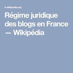 Régime juridique des blogs en France — Wikipédia