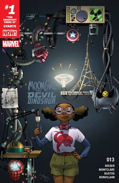Moon Girl and Devil Dinosaur (2015-) #13  Her brain is the only super-power she'll ever need! Reed Richards, Victor Von Doom, T'Challa, Amadeus Cho…the greatest minds in the Marvel Universe all have one thing in common: They're not smarter than a 4th grader! That's right, the rumors are true – Lunella Lafayette is the SMARTEST PERSON ON EARTH. It's time to put her unrivaled intellect to the ultimate test.