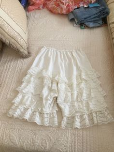 Cream color with 5 rows of lace. | eBay!