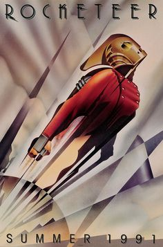 retro rocketeer poster, great style