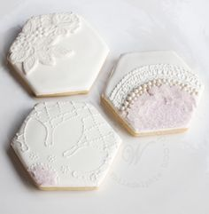 Whipped Bakeshop's custom textured hexagon cookies, Click the image to inquire! We ship our cookies across the United States! Cookie Designs, Sugar Cookies, United States, Ship, Texture, Baking, Cookie Monster, Flower Power, Special Events