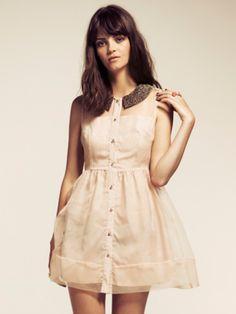 Pale Pink Organza Layered Dress