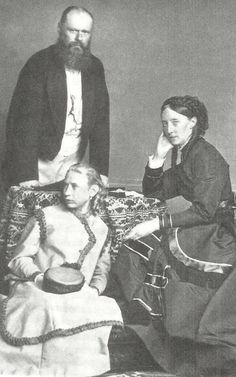 King Karl of Wurttemberg with queen Olga and their adoptive daughter Vera.