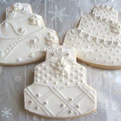 Wedding Gown Cookies Wedding Dress Cookie 12 Cookies | Etsy Galletas Cookies, Iced Cookies, Cut Out Cookies, Royal Icing Cookies, Cupcake Cookies, Cookies Et Biscuits, Cupcakes, Sugar Cookies, Farm Cookies