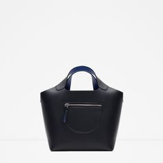 Image 1 of CONTRASTING HANDBAG from Zara