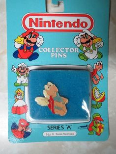 Nintendo Collector Pins Series A #15 Koopa Paratroopa New in Package 1989 No. 15 #Nintendo