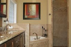 42 Gorgeous Small Bathroom With Walk In Shower For Small Houses - If you live in a tiny urban apartment or an old farm house that you are trying to update, you may be facing the challenge of putting a new modern show. House Plans And More, Small House Plans, Bathroom Photos, Small Bathroom, Master Bathroom, Bathroom Ideas, Bath Ideas, French Country Bedrooms, Bedroom Country