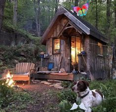 Log in  <br> Shed Cabin, Tiny House Cabin, Cozy Cabin, Cabin Homes, Tiny Houses, Log Homes, Into The Woods, Cabins In The Woods, One Room Cabins