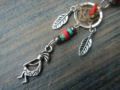 kokopelli kachina dreamcatcher belly ring in by gildedingypsy
