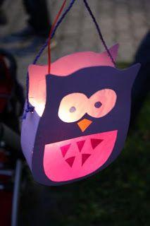 DIY Owl Lantern Pinned by www.myowlbarn.com