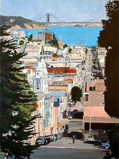 """""""San Francisco Street""""  Acrylic on Canvas painting, the original painting sold but I have prints of this."""