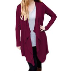 Womens Elegant Solid Irregular Autumn Knit Cardigans -- Check out this great product. (This is an affiliate link and I receive a commission for the sales) #Sweaters