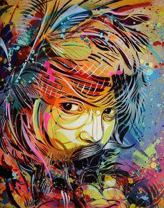 awesome graffiti portraits