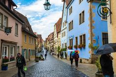 Sun after rain - Still wet, Rothenburg suddenly was covered by the sun on end of the day, revealing more colors of this amazing city