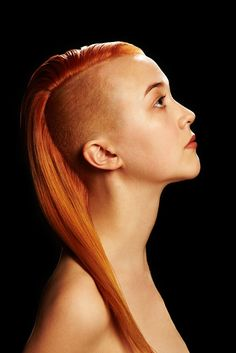 I had my hair shaved and red like this in Junior high during the 90's and LOVED it! @ fuckyeah-hair