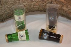 Shot Glass Upcycled From Yuengling Beer by CountryRichDesigns.  Unique barware
