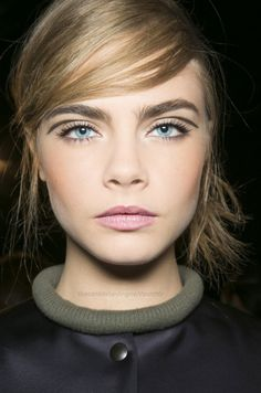 reallly long floating liner! Cara Delevingne