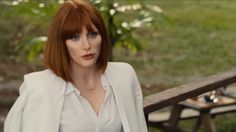 Here's How to Safely Run in Heels Like Bryce Dallas Howard in 'Jurassic World' Red Hair Pale Skin, Jurassic World Claire, Brice Dallas Howard, Claire Dearing, Bob Haircut With Bangs, Jessica Chastain, Beautiful Actresses, Bob Hairstyles, Her Hair
