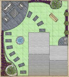 L shaped garden design ideas