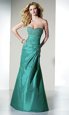 Strapless Mermaid Prom Dress by Alyce at PromGirl.com