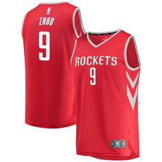 b3ce3c5d66f Zhou Qi Houston Rockets Fanatics Branded Youth Fast Break Player Jersey - Icon  Edition - Red