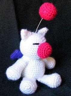 09f1c4075f13 Final Fantasy Moogle plushie (with free crochet pattern) Crochet Videos