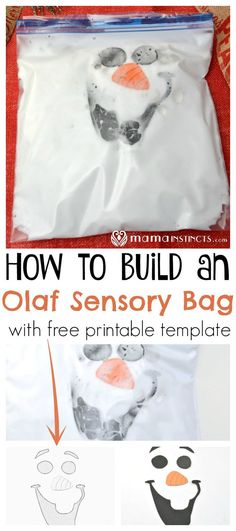 How to Build an Olaf Sensory Bag (with free printable)