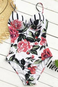 Cupshe Movie Scene Floral One-piece Swimsuit