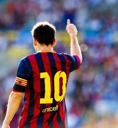 Messi left striker.