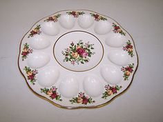 Royal Albert Old Country Roses Deviled Egg by ConfectionersCove