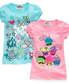 Beautees Kids Shirts, Little Girls Graphic Tees - Kids Girls 2-6X - Macy's