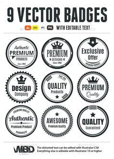 Nine Scalable Vintage Badges #transparent #png #modern badge #logo badges • Available here → https://graphicriver.net/item/nine-scalable-vintage-badges/18118455?ref=pxcr
