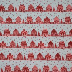 Christmas Village Fabric - White • Shop • Remnant Kings