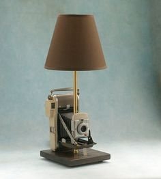Polaroid Land Camera 80A Camera Lamp Camera by leeannsvintagedecor