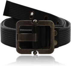 Eurosport Authentic Canvas Tactical Belt - WB2825 - Black - Small/Medium at Amazon Men's Clothing store: