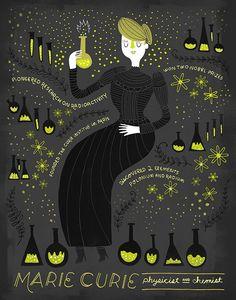 Mujeres en la ciencia, ciencia, mujeres científicas, ilustración