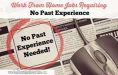 Are you looking for a work from home job that requires no past experience? Here is a huge list of companies that may consider beginners.