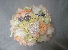 Jewellery added bouquet by Cathey's flowers