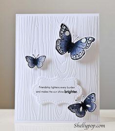 Hero Arts Butterflies, PTI embossing plate