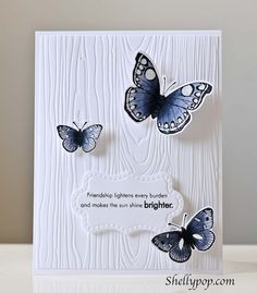 Simple butterfly card