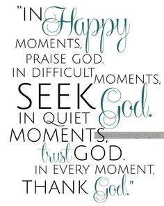 Seek him