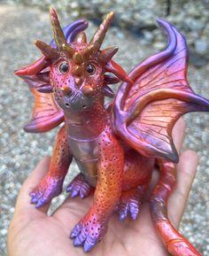 Dragon Figurines, Fairy Figurines, Pixie Ears, Dragon Miniatures, Polymer Clay Dragon, Magical Images, Creepy Cute, Fairy Art, Fairy Dolls