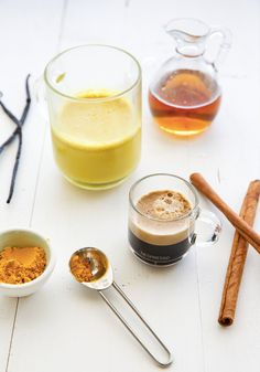 This interesting flavor combination combines both coffee and tea in this delicious Turmeric Tea Latte recipe. Robust Nespresso Espresso is enhanced with calming ingredients like fresh ginger and vanilla bean for a unique hot beverage experience you won't be able to get enough of!