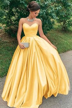 Yellow sweetheart satin long prom dress yellow formal dress sold by of girl. Shop more products from of girl on Storenvy, the home of independent small businesses all over the world. Long Summer Dresses, Formal Evening Dresses, Evening Gowns, Long Dresses, Long Gowns, Dress Long, Yellow Bridesmaid Dresses, Strapless Prom Dresses, Dresses Dresses