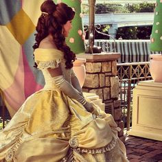 Belle's new dress at Disneyland. WHY CAN'T I BE A DISNEY PRINCESS.