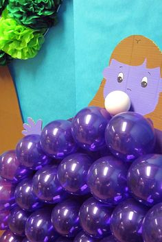 Violet Beauregarde Costume Rental Wonka swirls / inventi...