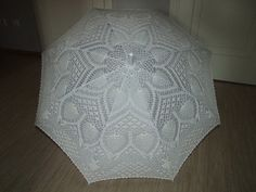 Crochet wedding umbrella 48 width by LaimInga on Etsy