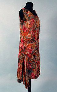 Printed Lame Party Dress, 1928-1932